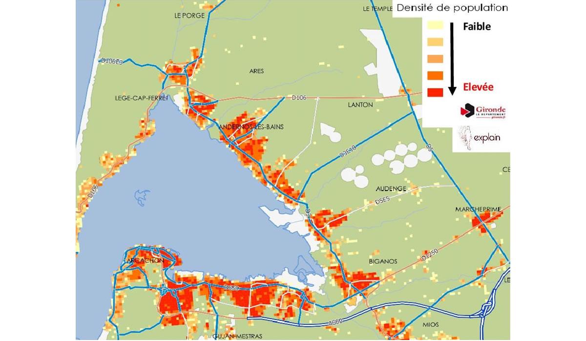 Plan Lacanau De Mios projet de déplacements durables du nord bassin | gironde.fr