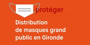 Distribution de masques grand public en Gironde