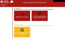Boîte à outils Gironde Ressources Homepage